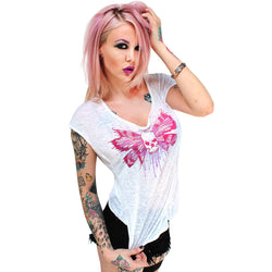 Skullwing Burnout Dolman-Women's Tops-7threvolution.com