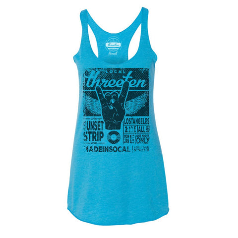 Sunset Strip Live Vintage Turquoise Racerback-tank tops-7threvolution.com