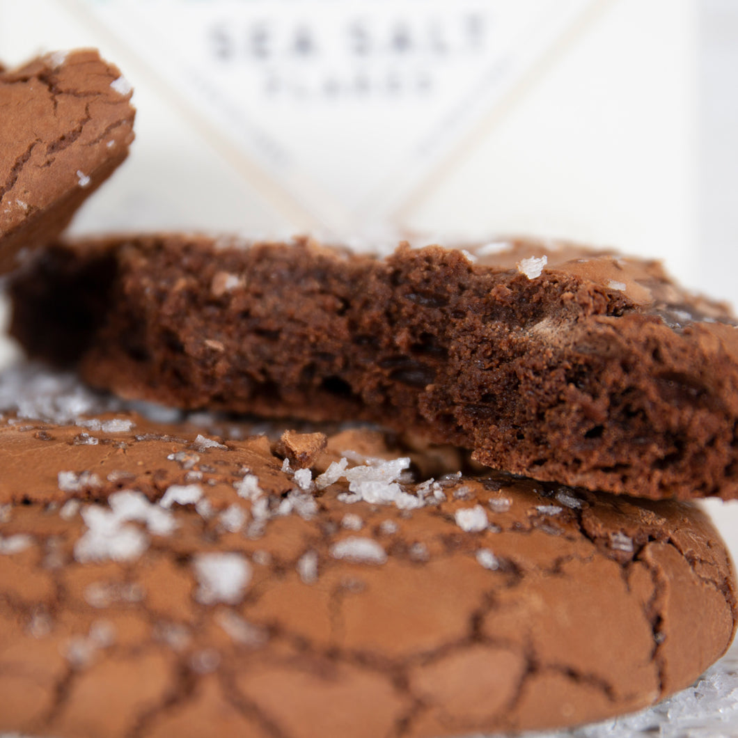 Double Choc & Sea Salt Letterbox Cookies