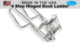 CPI Designs, LLC, 5 Step, Hinged, Ocean, Folding, Marine, Marina, Boat, Dock, Ladder, Aluminum, Easy Step, Corrosion Resistant, Fishing, Boating, Camping, Surf, Peir, Garden, Tail Gating, Cart, Made in the USA
