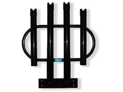 Rod Rack Bumper Mount IV - 4 Pole Holder in Gloss Black