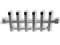 Rod Rack Console Mount - 6 Pole Holder in Mill Aluminum
