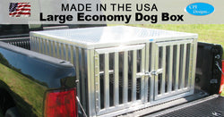 Large Double Door Economy Dog Box 48x48x24