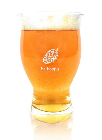 Cheers All Be Hoppy Beer Glass