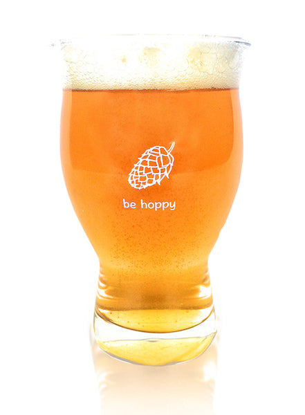 4 Pack of Be Hoppy Nucleated Ultimate Pint Glasses