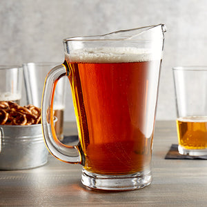 Solid Glass Draft Beer Pitcher