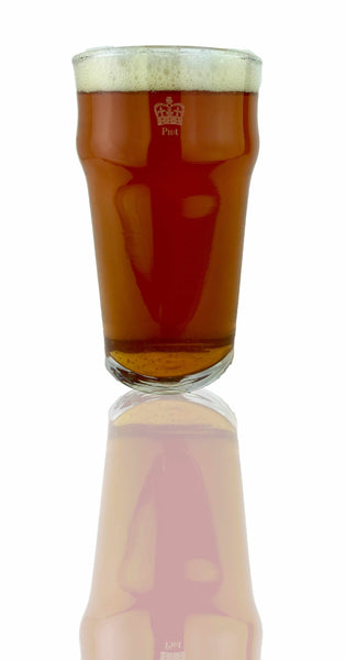 British Pub Style Imperial Pint Glass with Etched Seal - Single Glass