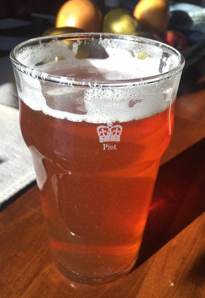 The British Imperial Pint from Cheers All with Etched Crown and Pint laser engraved on the side of the glass.
