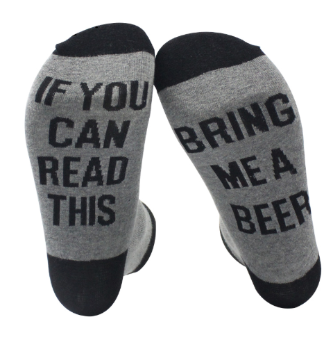 Beer Lover Socks - If you can read this bring me a beer