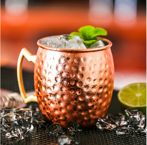 18.5oz Hand Hammered Moscow Mule Mug - Copper Drinking Cup - Handmade in India