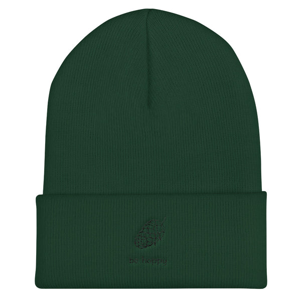Be Hoppy - Embroidered Cuffed Beanie