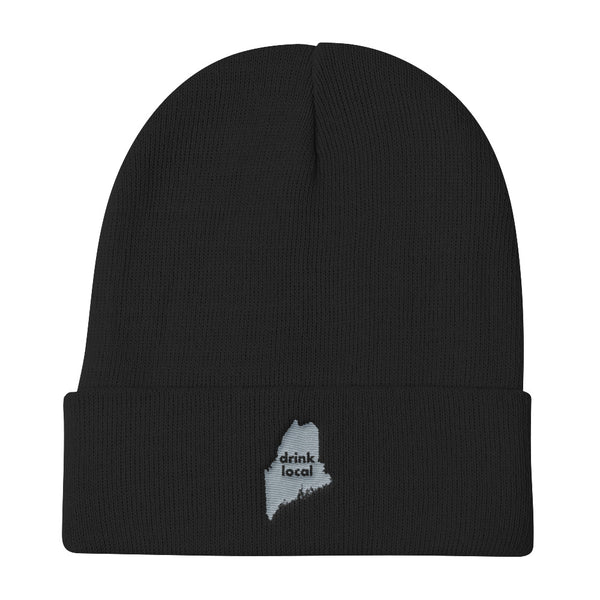 Maine - Drink Local Beer - Knit Beanie