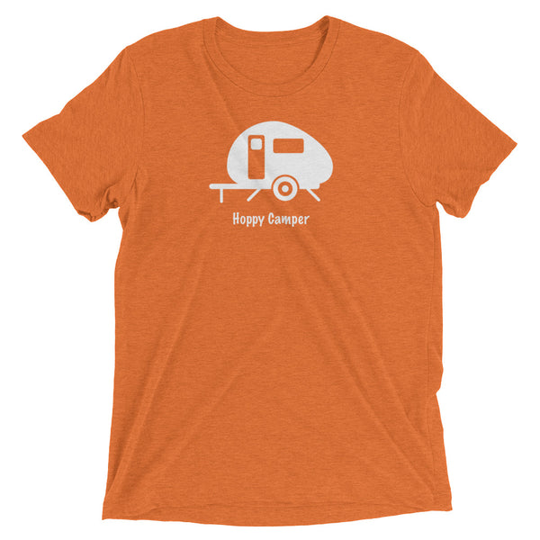 Hoppy Camper T-Shirt - Camping is only made better with beer.