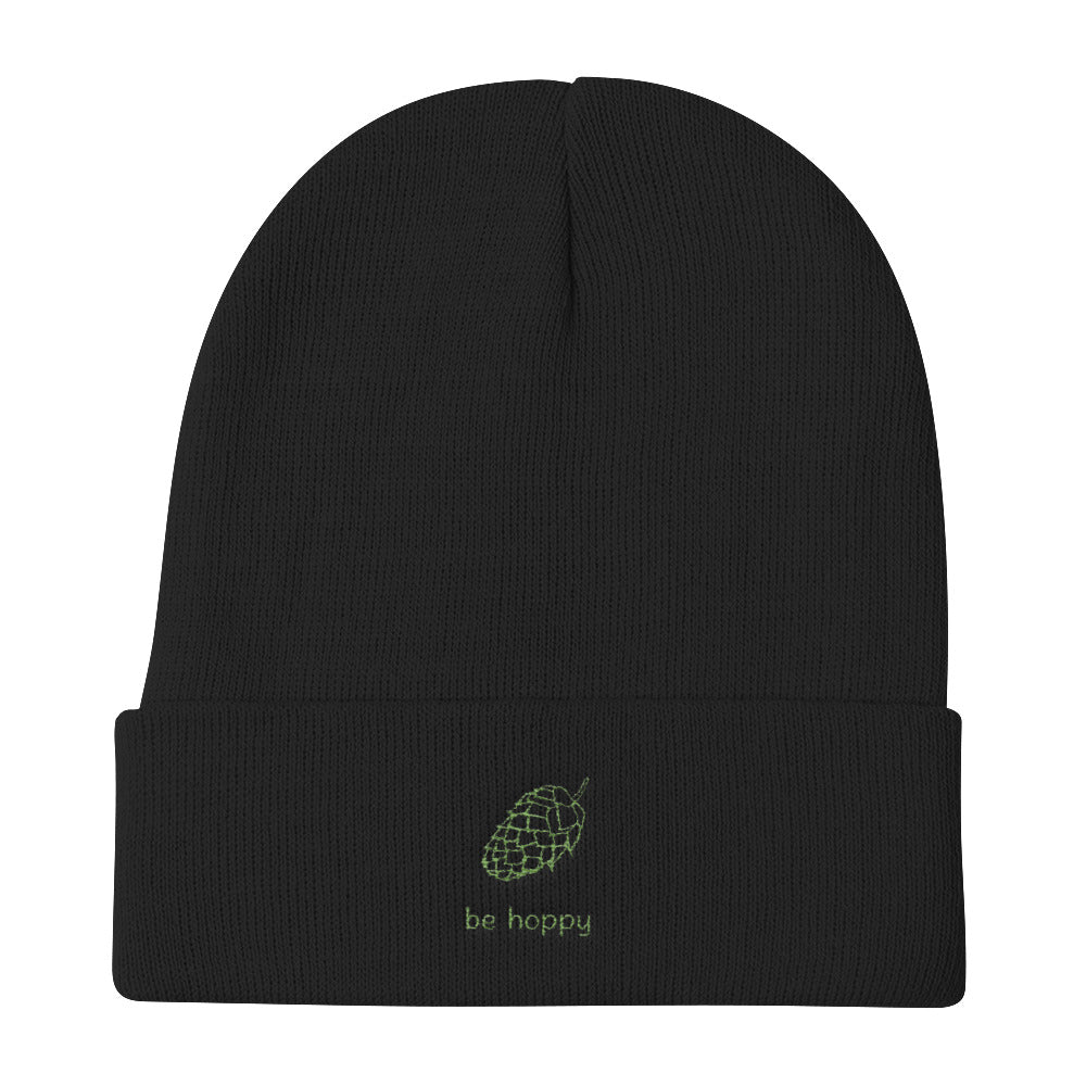 Be Hoppy Embroidered Knit Beanie