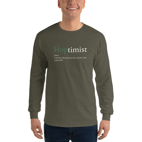 Hoptimist Definition - Long Sleeve T-Shirt