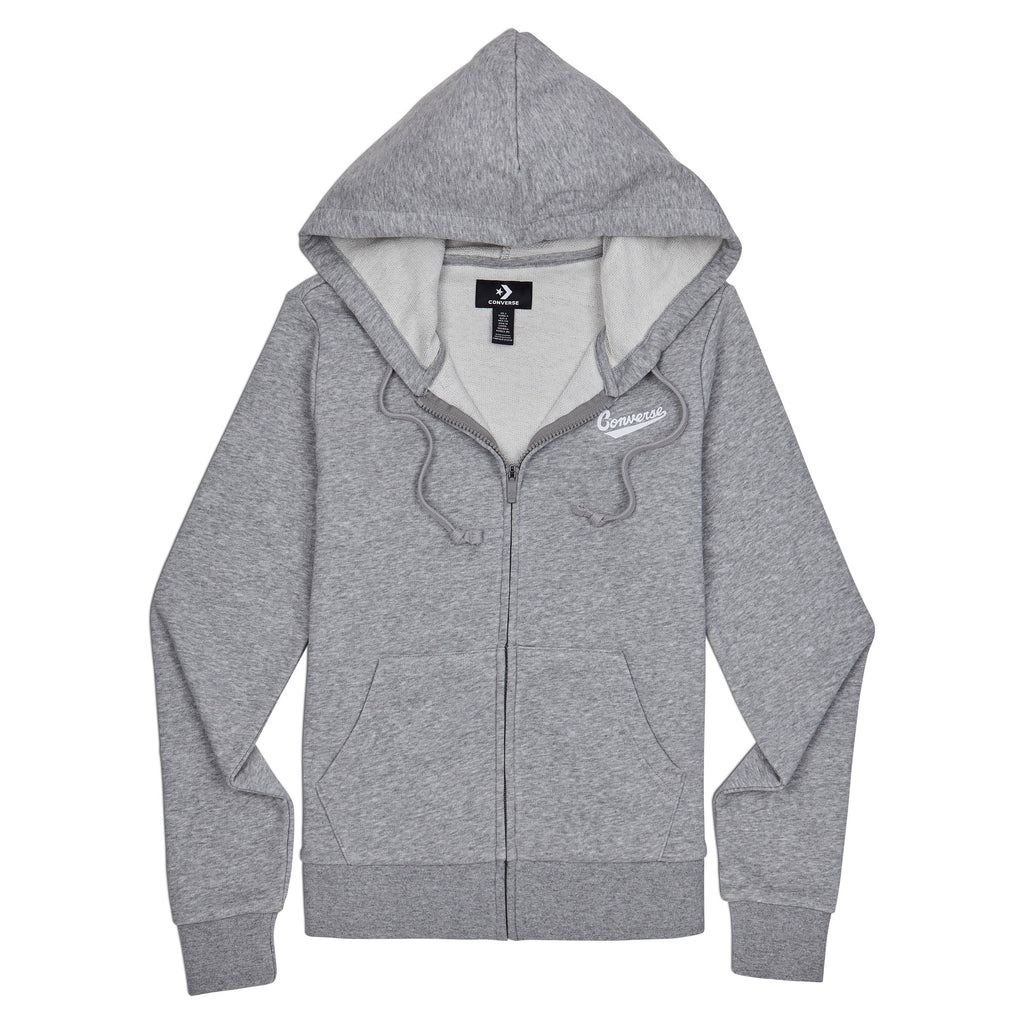 Converse Women's Star Chevron Nova Full Zipped Hoody Grey