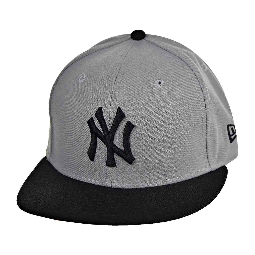 New Era New York Yankees 59Fifty Men's Fitted Hat Cap Grey/Black