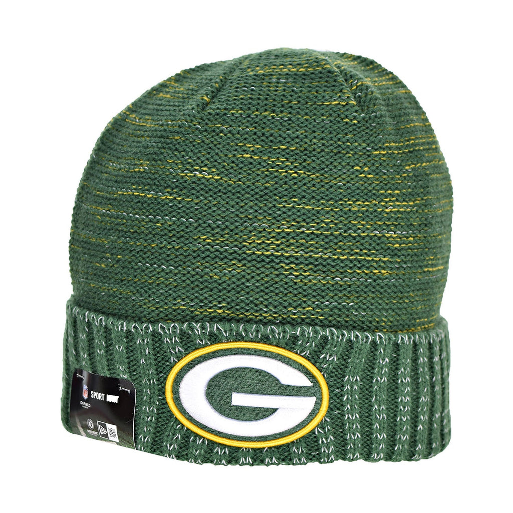 New Era Green Bay Packers NFL 17 Knit Kickoff Men's Beanie Hat Cap Green/Yellow