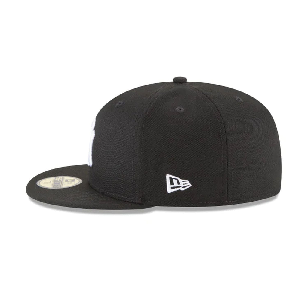 New Era New York Yankees Basic 59Fifty Fitted Cap Hat Black/White