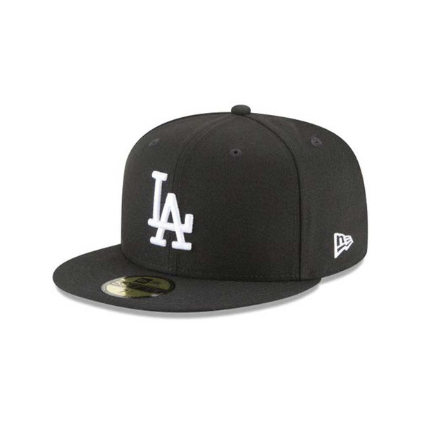 New Era 59Fifty Los Angeles Dodgers Basic Men's Fitted Hat Black