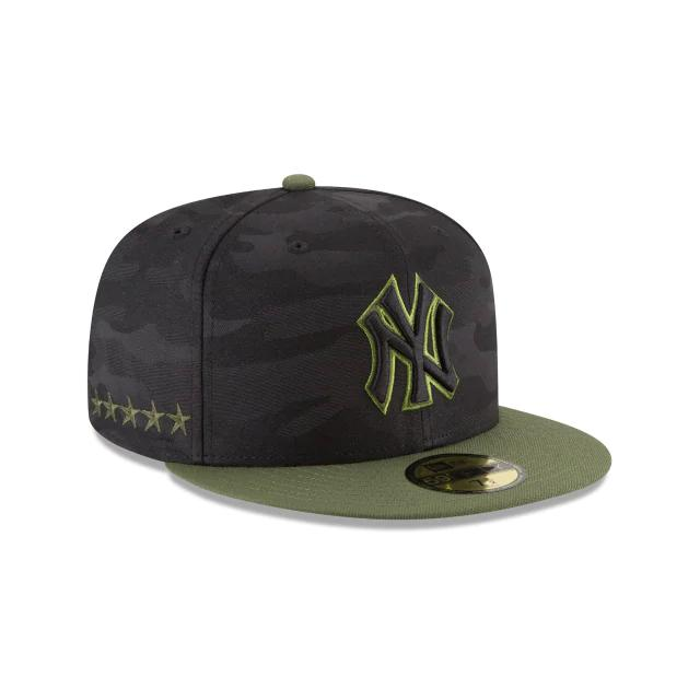 New Era New York Yankees SE18 Memorial Day 59Fifty Fitted Caps Hat Black/Green