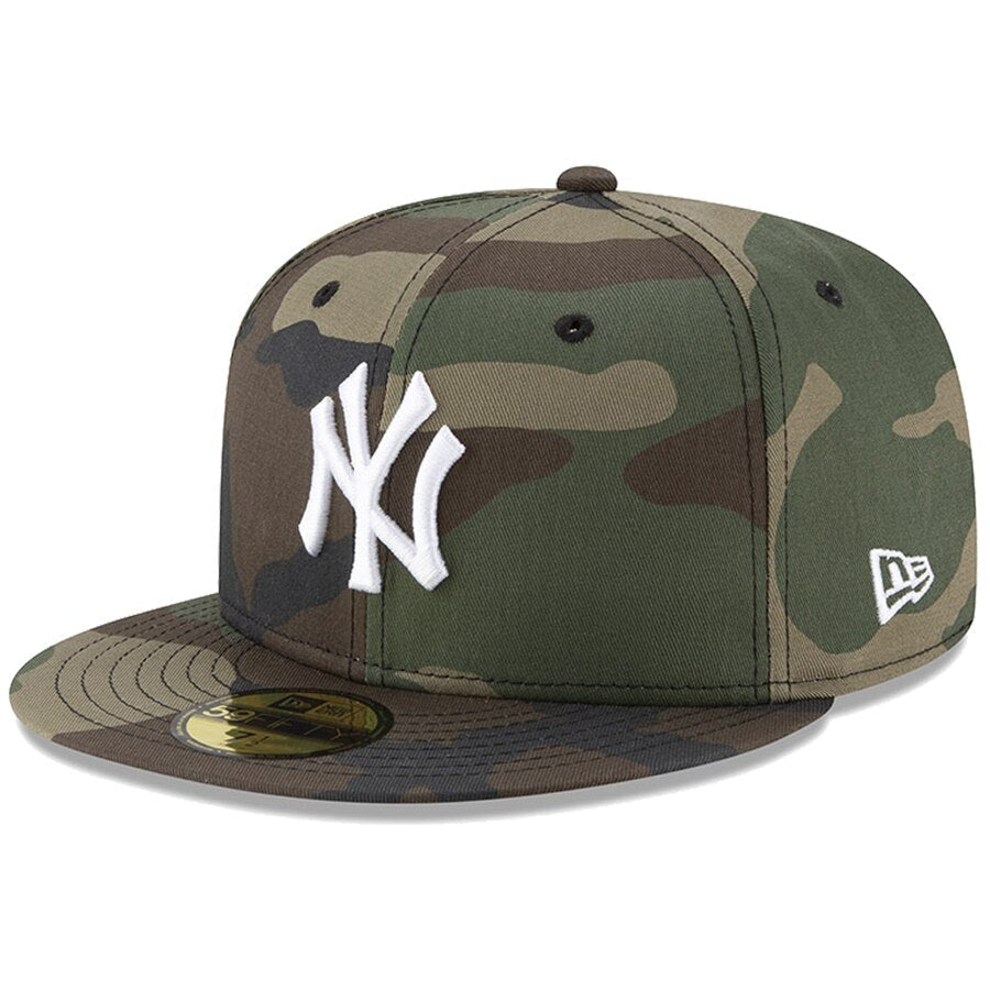 New Era New York Yankees Basic 59Fifty Fitted Cap Hat Woodland Camo