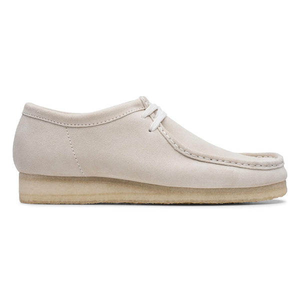 Clarks Wallabee Mens Shoes Off White Suede