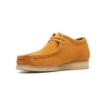Clarks Wallabee Mens Shoes Turmeric Suede