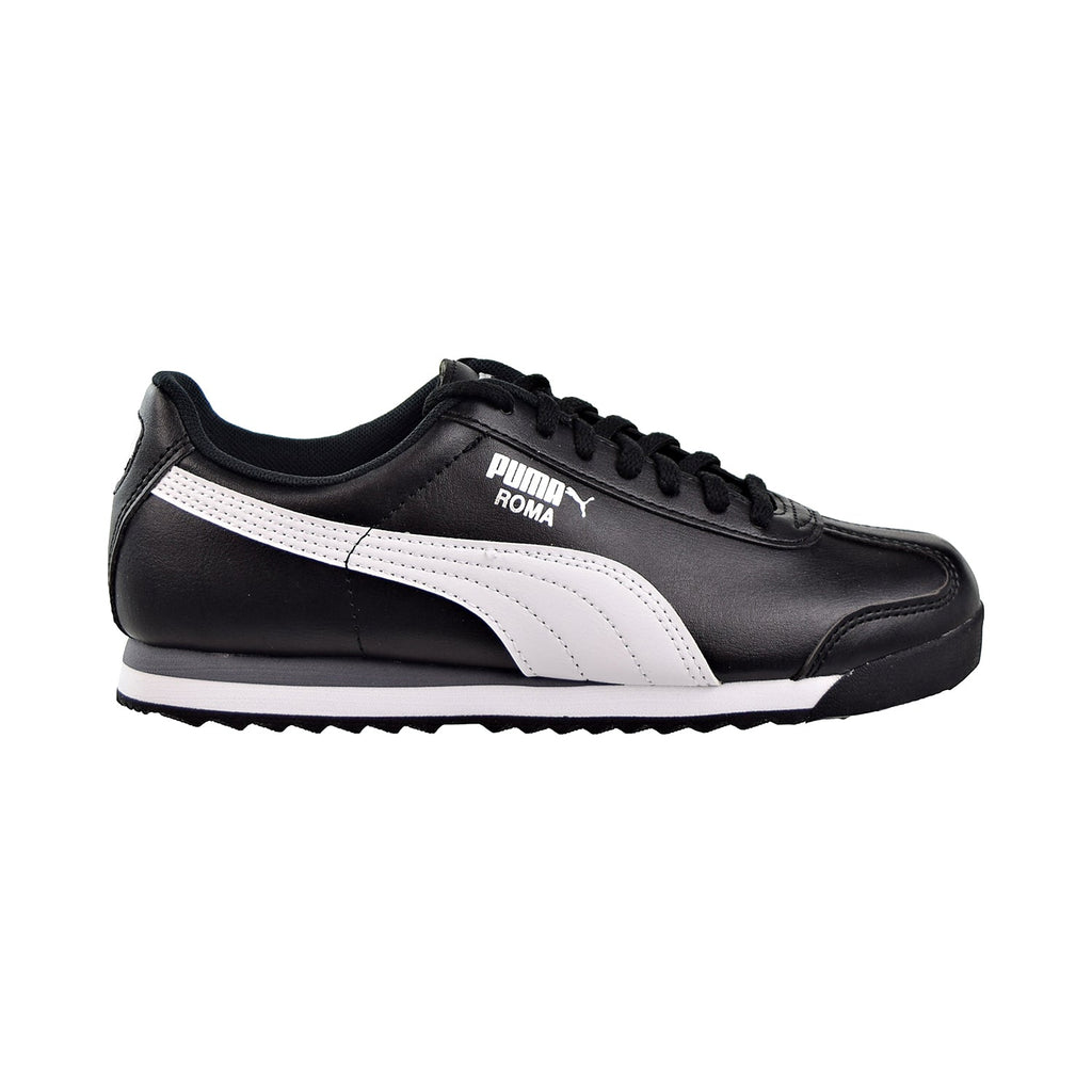 Puma Roma Basic JR Big Kids Shoes Black/White/Puma Silver