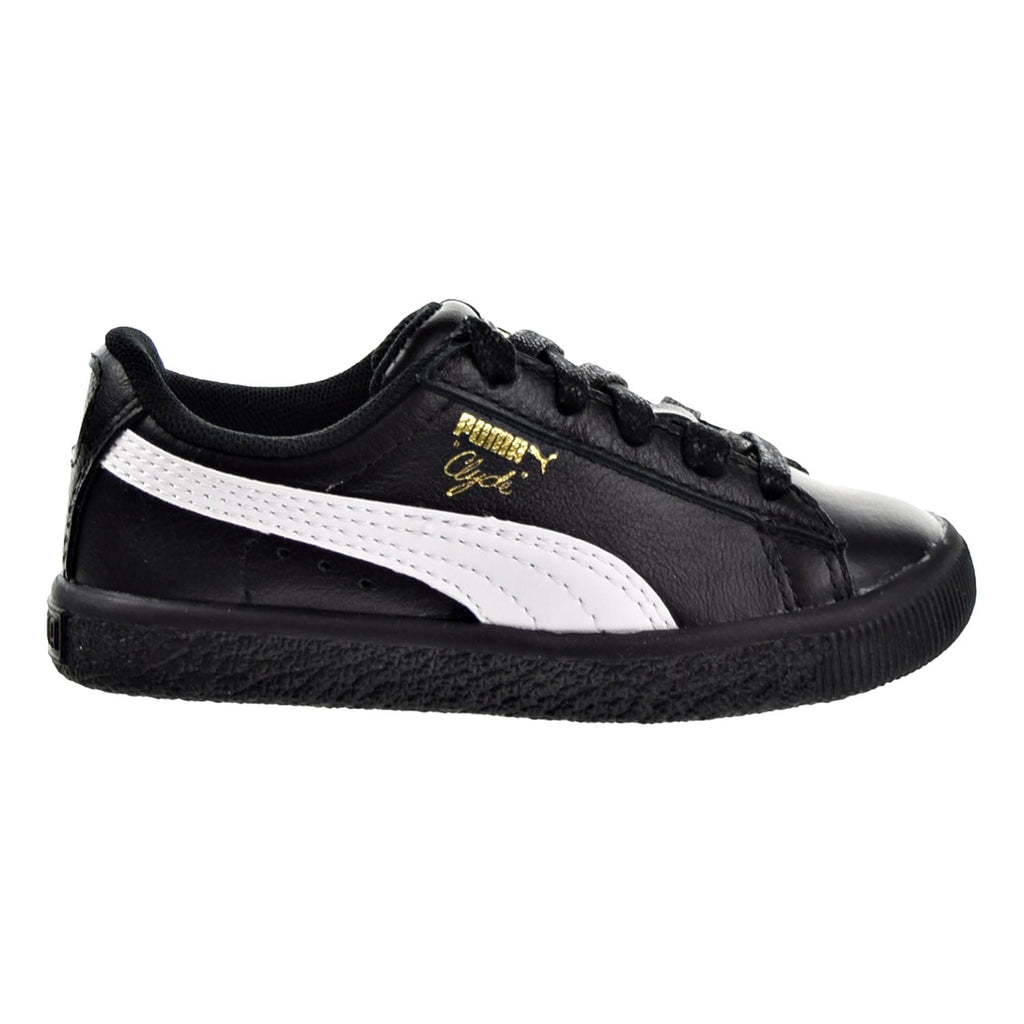 Puma Clyde Core L Foil Toddler Shoes Puma Black/Puma White