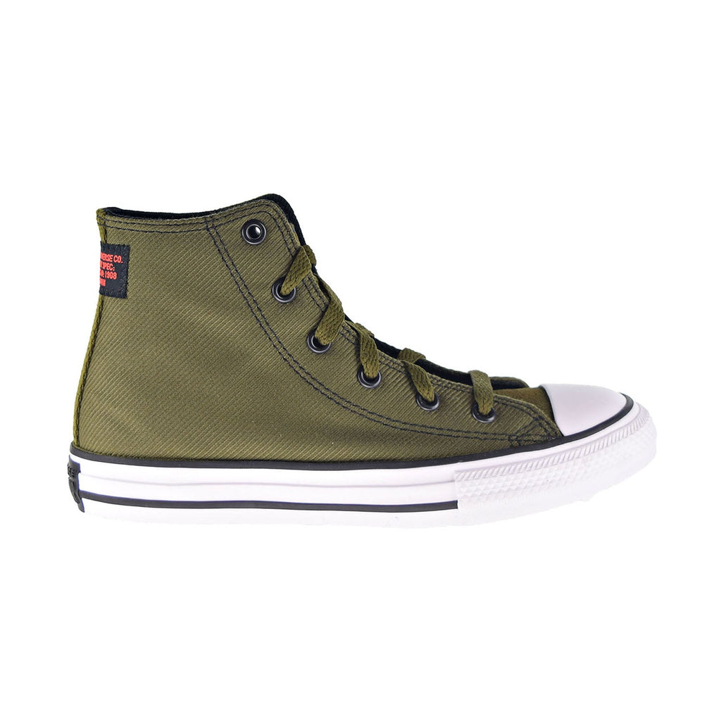 Converse Chuck Taylor All Star Hi Little Kids' Shoes Surplus Olive-Black-White
