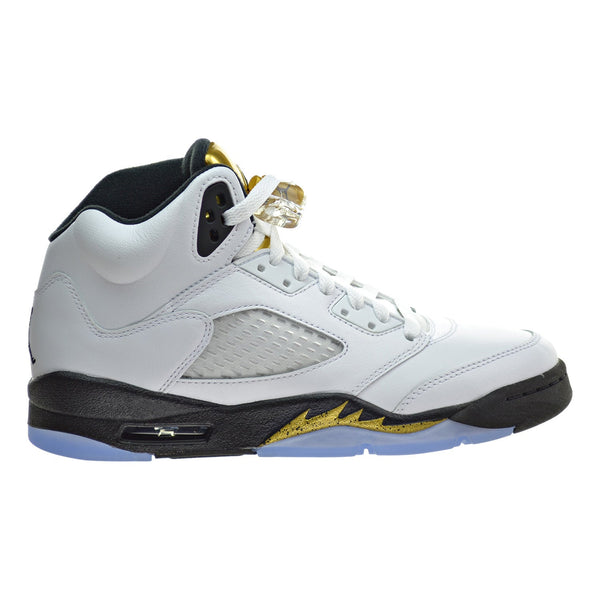 Air Jordan 5 Retro BG Big Kid's Shoes White/Black/Metallic Gold Coin