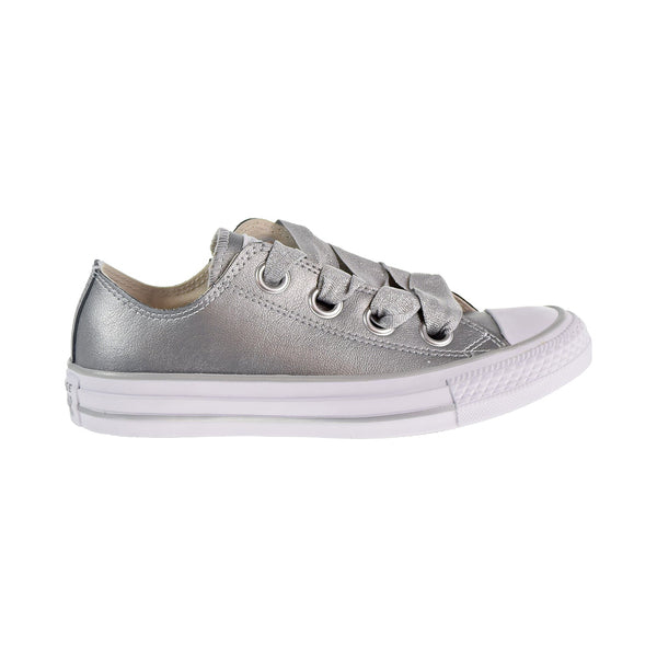 Converse Chuck Taylor All Star Big Eyelets Ox Womens Shoes Metallic Silver/White
