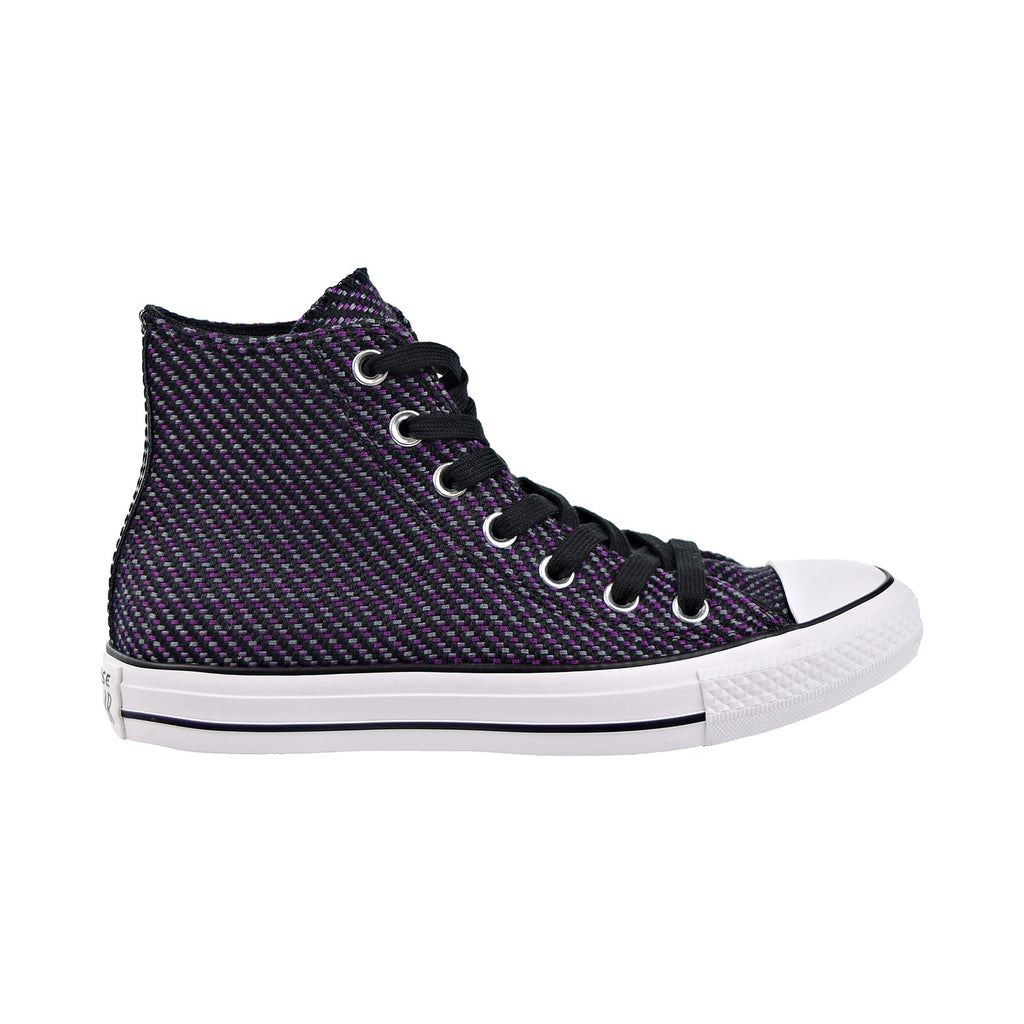Converse Chuck Taylor All Star HI Womens Shoes Black/Icon Violet/Cool Grey