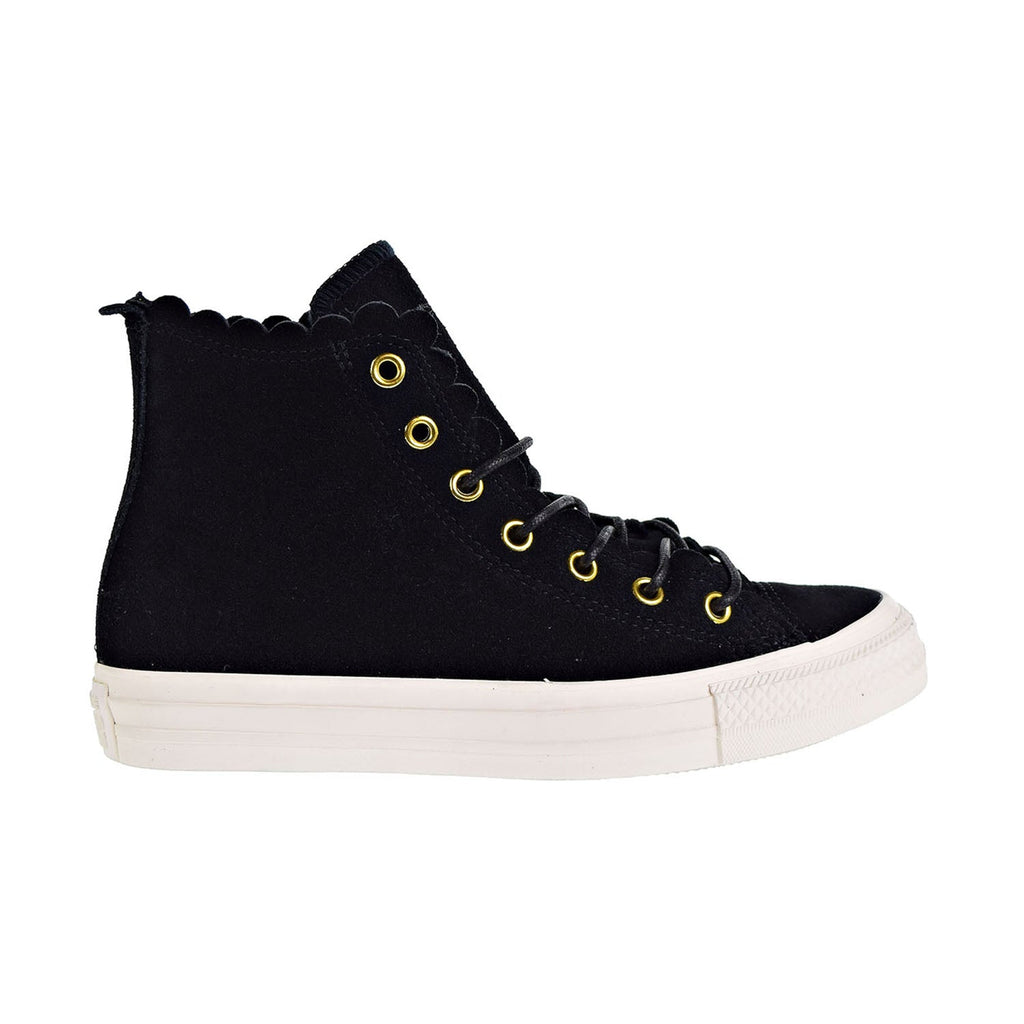 Converse Chuck Taylor All Star Hi Frilly Thrills Suede Women's Shoes Black/Gold