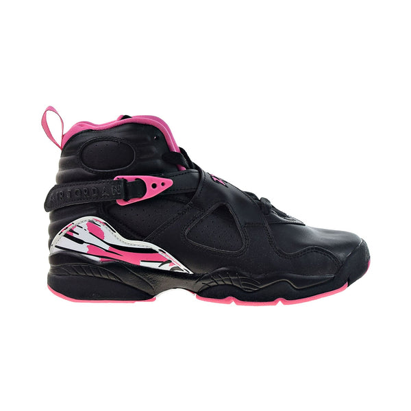 Jordan 8 Retro Big Kids' Shoes Black-White Pink