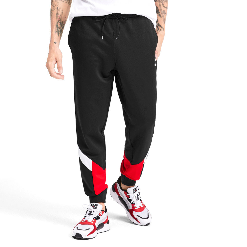 Puma Iconic MCS Knitted Men's Track Pants Puma Black/High Risk Red