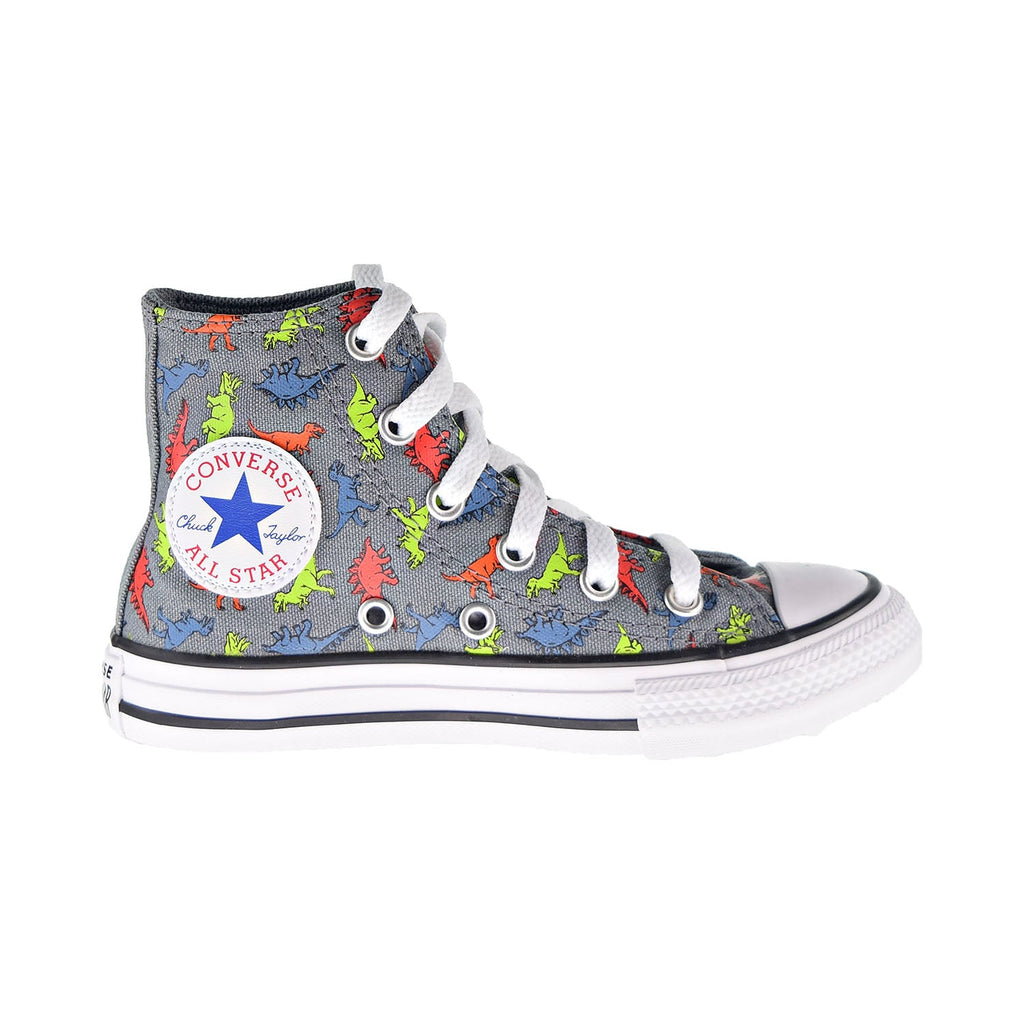 Converse Chuck Taylor All Star Dinoverse Hi Kids' Shoes Cool Grey-Black-White
