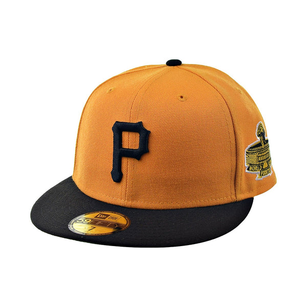 New Era 59Fifty Pittsburgh Pirates Green Bottom Men's Fitted Hat Yellow