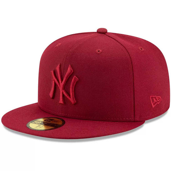 New Era 59Fifty New York Yankees Cardinal Tonal Men's Fitted Hat Burgundy