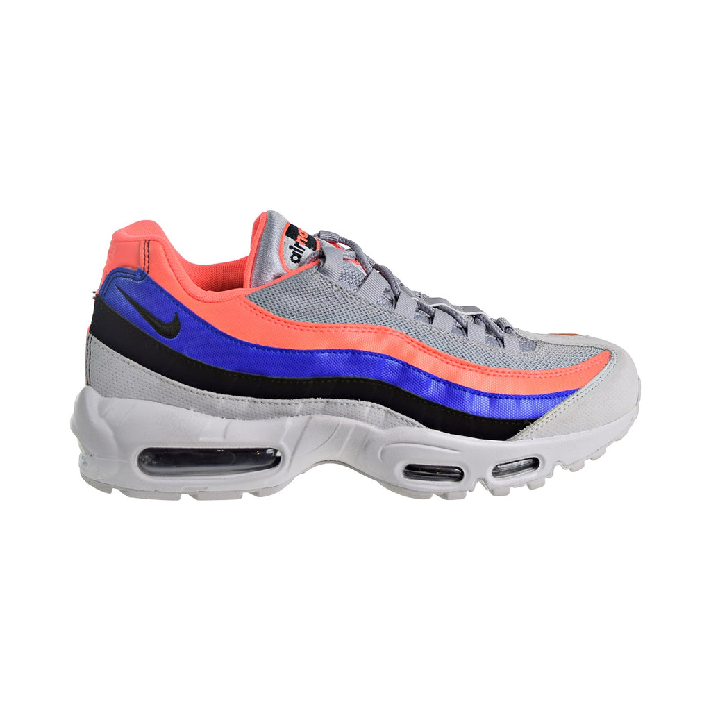 Nike Air Max 95 Essential Men's Shoes Pure Platinum/Bright Mango/Blue/Black