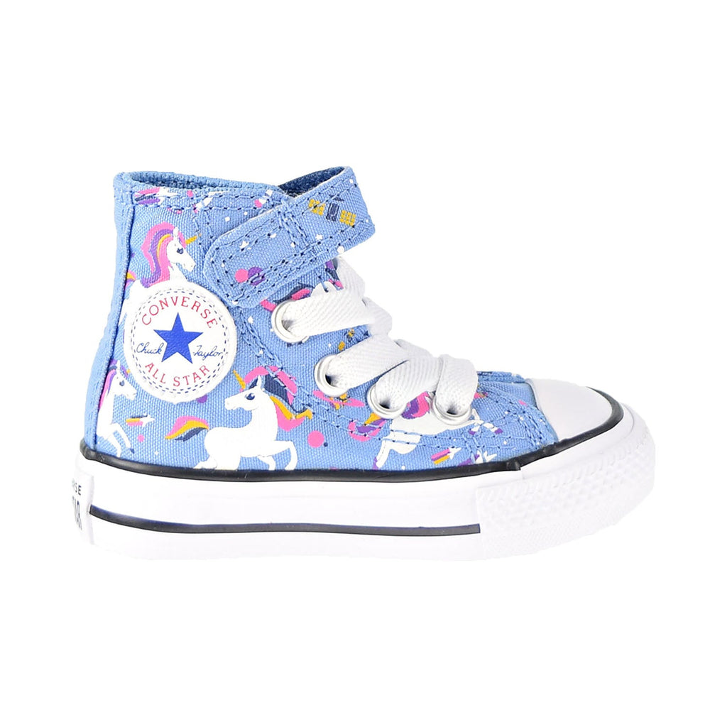 Converse Chuck Taylor All Star Unicorns Hook And Loop Hi Toddler Shoes Blue