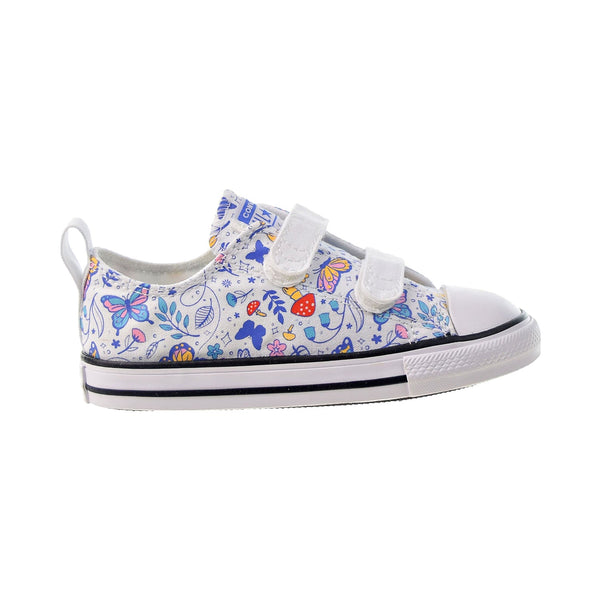 Converse Chuck Taylor All Star 2V Strap Ox Toddlers' Shoes White-Black
