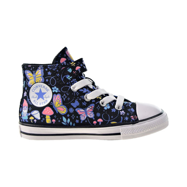Converse Chuck Taylor All Star 1V Hi Strap Toddlers' Shoes Black-Bleached Cya