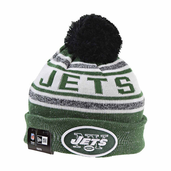 New Era New York Jets Jr Toasty Cover Youth Beanie Hat Green/White