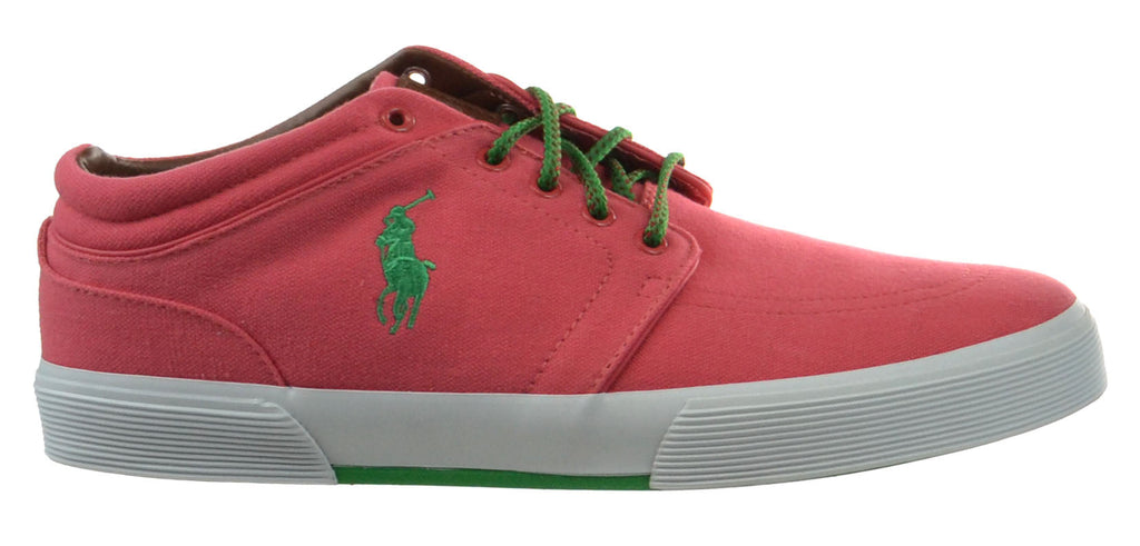 Polo Ralph Lauren Faxon Mid Men's Shoes Sunset Red-Biscay Green