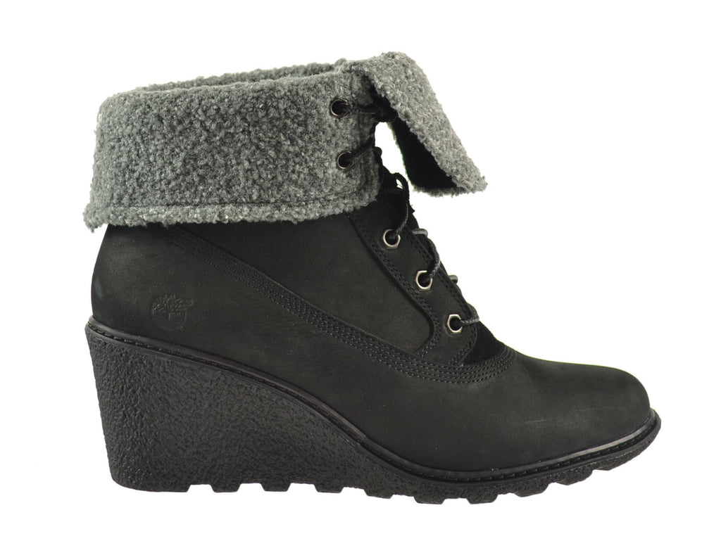 Timberland Earthkeepers Amston Roll Top Women's Boots Black