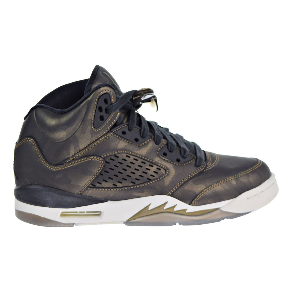 Air Jordan 5 Retro Premium HC Big Kids Shoes Black/Black/Light Bone