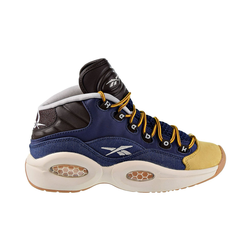 Reebok Question Mid Dress Code Big Kids Shoes Blue/Stucco/Brown/Gold