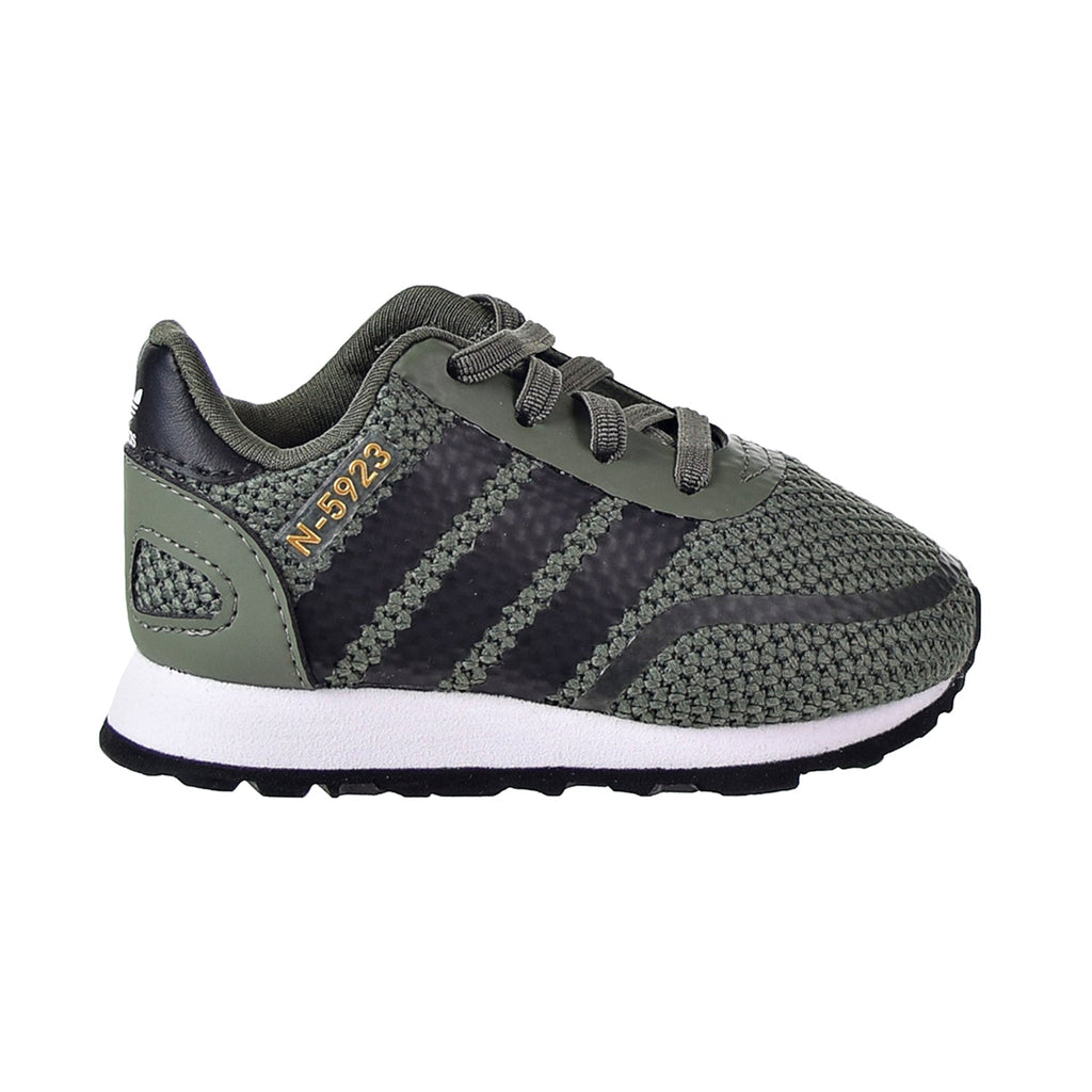 Adidas N-5923 EL I Toddler's Shoes Base Green/Core Black/Footwear White